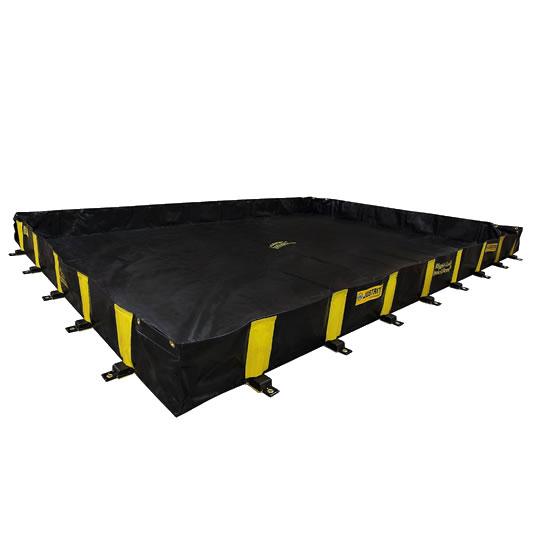 Piletas 28502 4250 lts derrame para contención de derrames Justrite QuickBerm® Plus - 3,05 x 4,57 x 0,30 mts