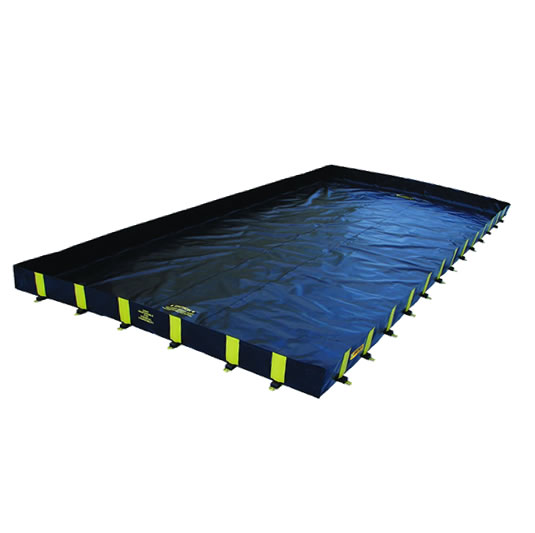 Piletas 28504 9500 lts derrame para contención de derrames Justrite QuickBerm® Plus - 3,66 x 8,53 x 0,30 mts - 9.500 litros