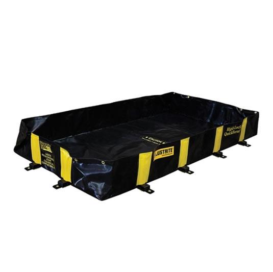 Piletas 28512 660 lts derrame para contención de derrames Justrite QuickBerm® Plus - 1,22 x 1,83 x 0,30 mts - 660 litros