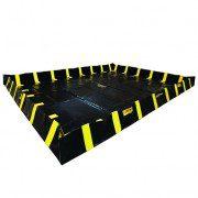 Piletas 28552 9047 lts derrame para contención de derrames Justrite QuickBerm® con soportes interiores de pared - 4,88 x 6,10 x 0,30 mts - 9.047 litros