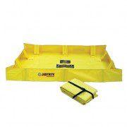 Piletas 28556 300 lts derrame para contención de derrames Justrite QuickBerm® Lite - 1,22 x 1,22 x 0,20 mts - 300 litros