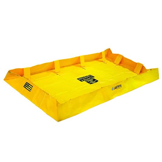 Piletas 28564 602 lts derrame para contención de derrames Justrite QuickBerm® Lite - 1,22 x 2,44 x 0,20 mts - 602 litros