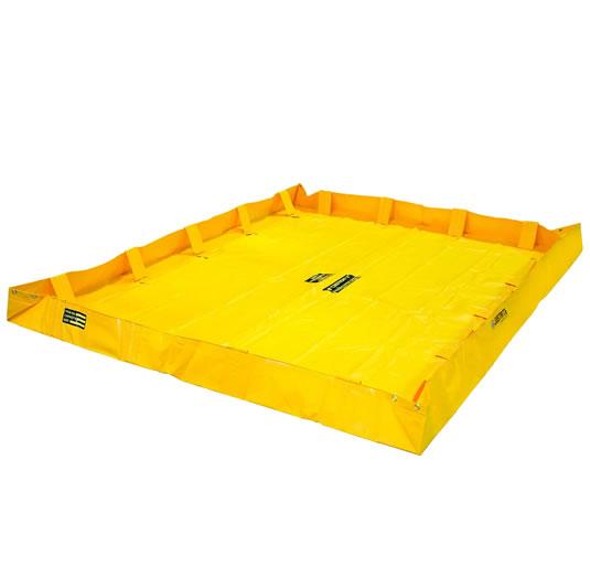 Piletas 28566 1204 lts derrame para contención de derrames Justrite QuickBerm® Lite - 2,44 x 2,44 x 0,20 mts - 1.204 litros