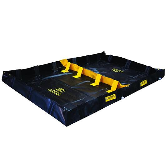 Piletas 28570 1130 lts derrame para contención de derrames Justrite Decon QuickBerm® - 1,83 x 3,05 x 0,20 mts - 1.130 litros
