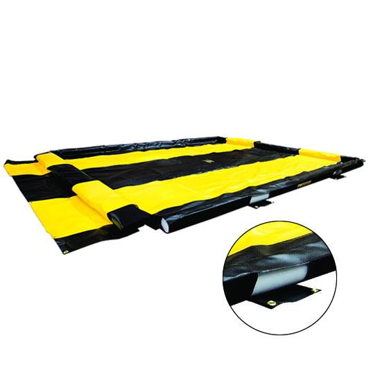Piletas 28576 940 lts derrame para contención de derrames Justrite WashDown QuickBerm® - 3,05 x 3,35 x 0,10 mts - 940 litros