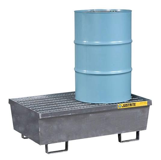 Pallet antiderrame 2t para 2 tambores Justrite 28611 de acero Galvanizado