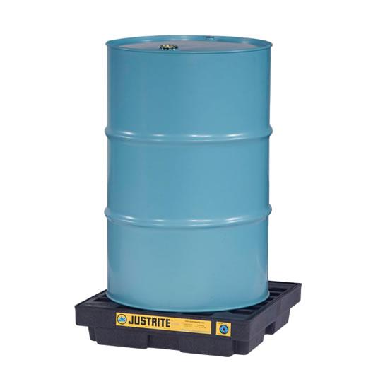 Centros de acumulación 28653 Justrite para 1 tambor Color negro (Ex 28940) EcoPolyBlend™