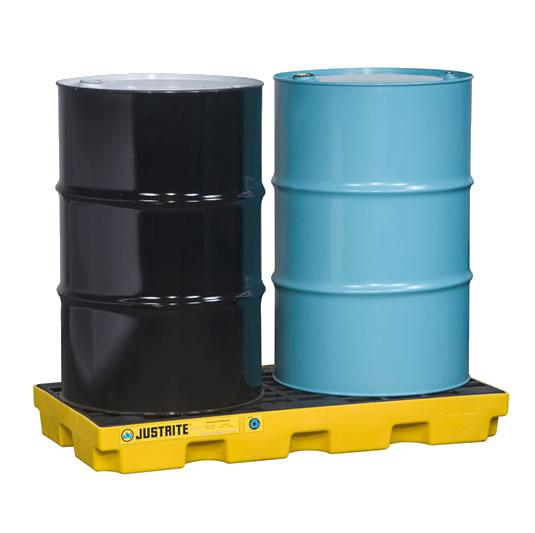 Centros de acumulación 28654 Justrite para 2 tambores (Ex 28922) EcoPolyBlend™