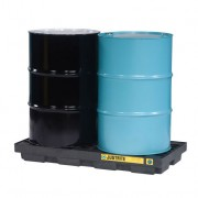 Centros de acumulación 28655 Justrite para 2 tambores Color negro (Ex 28922) EcoPolyBlend™