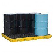 Centros de acumulación 28658 Justrite para 6 tambores Color amarillo (Ex 28924) EcoPolyBlend™