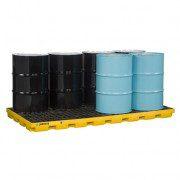 Centros de acumulación 28660 Justrite para 8 tambores Color amarillo (Ex AK28905) EcoPolyBlend™