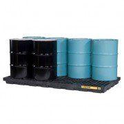 Centros de acumulación Justrite 28661 (Ex AK28905) EcoPolyBlend™ para 8 tambores - Color negro