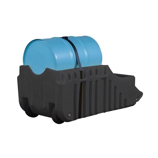 Caddys antiderrames para Tambores - Color Negro - Para Exterior - Justrite 28665