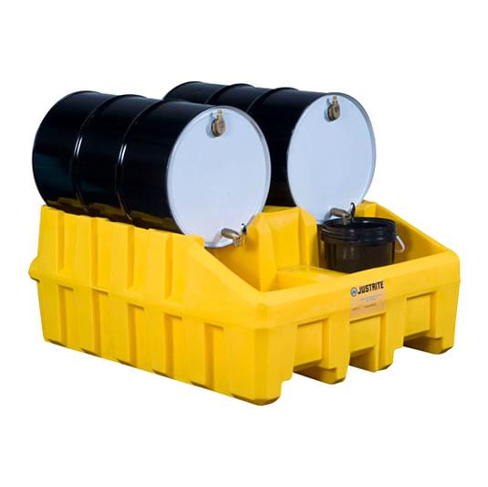 Apiladores 28666 para sistema de gestión de tambores Justrite Color Amarillo (Ex AK28902/AK28902Y) EcoPolyBlend™