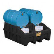 Apiladores 28667 para sistema de gestión de tambores Justrite Color Negro (Ex AK28902/AK28902Y) EcoPolyBlend™