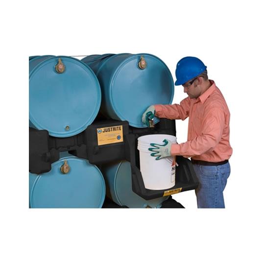 Apiladores 28669 para sistema de gestión de tambores Justrite Color Negro (Ex AK28903/AK28903Y) EcoPolyBlend™