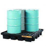 Pallet antiderrame 4t para cobertizo Justrite 28673 para 4 tambores