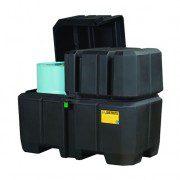Centros colectores 28683 Justrite (ex 28250) EcoPolyBlend™ con tapa - Para 2 tambores - Color negro