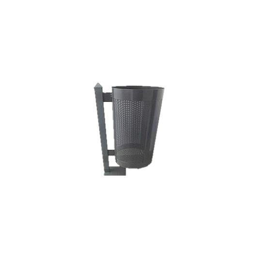 Papeleros metálicos circulares y semicirculares sin tapa - Capacidad 68 y 46 litros
