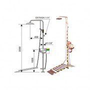 Ducha de emergencia con lavaojos 6013 de acero inoxidable - Accionamiento plataforma