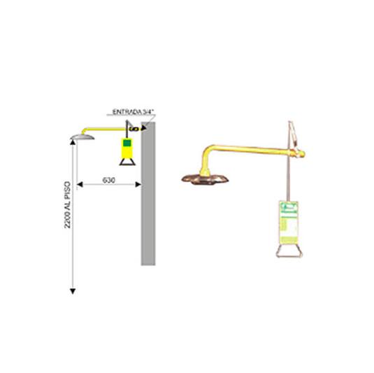 Ducha de emergencia 6017 de acero galvanizado - Accionamiento manual
