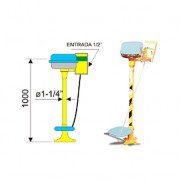 Lavaojos 6023 de acero galvanizado - Accionamiento pedal y palanca