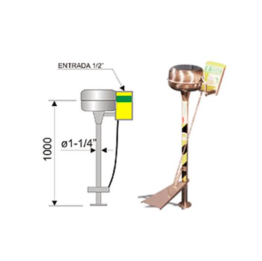 Lavaojos 6024 de acero inoxidable - Accionamiento pedal y palanca