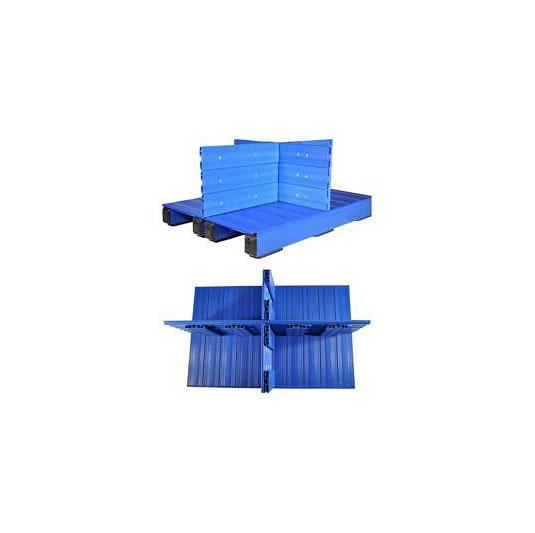 Pallets plásticos con división
