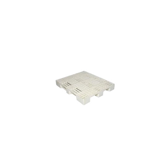 Pallets plásticos con superficie acanalada