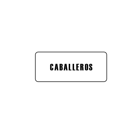 CARTELES AUTOADHESIVOS CABALLEROS