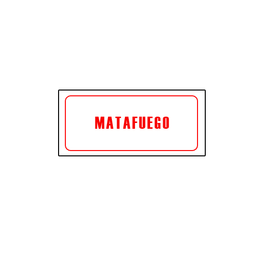 CARTELES AUTOADHESIVOS MATAFUEGO