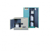 GABINETES IGNIFUGOS PARA CORROSIVOS JUSTRITE 8849222 ChemCor® - AZULES - 31 GALONES - PUERTAS AUTOMATICAS