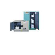 GABINETES IGNIFUGOS PARA CORROSIVOS JUSTRITE 8930222 ChemCor® - AZULES - 30 GALONES - PUERTAS AUTOMATICAS