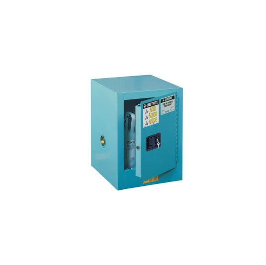 GABINETES 890402 4 Ga PM IGNIFUGOS PARA CORROSIVOS JUSTRITE Ex-25040B Sure-Grip® Sobremesada Azules 4 Galones Puerta Manual