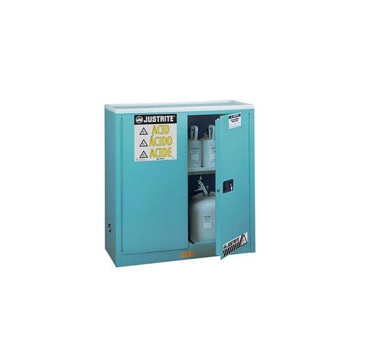 GABINETES 893082 30 Gal PP IGNIFUGOS para acidos JUSTRITE Sure-Grip® Azules 30 Galones Puertas plegables