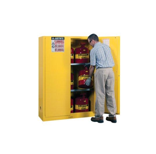 GABINETES 894500 IGNIFUGOS JUSTRITE Ex-25450 45 galones amarillos puerta manual