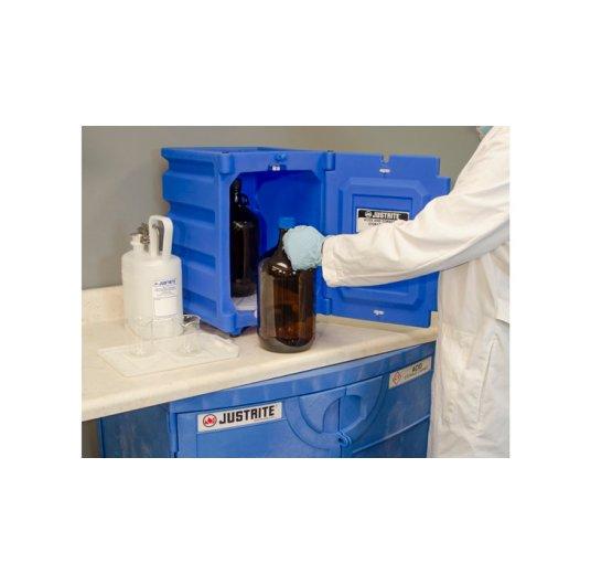 GABINETES 24080 8 Lt mesa IGNIFUGOS Para acidos y corrosivos JUSTRITE sobre mesada Polietileno 8 Litros