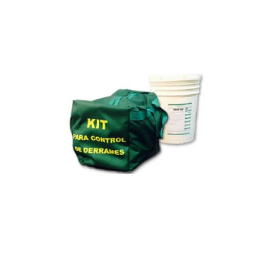KIT control de derrames Bolso y Balde 20 Lts