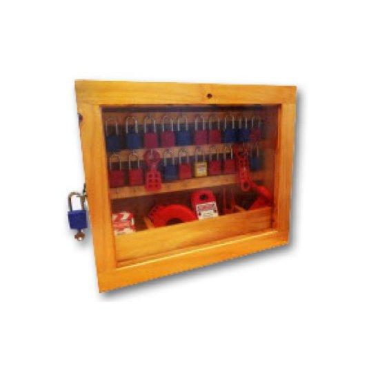 Locker de madera para llaves y candados