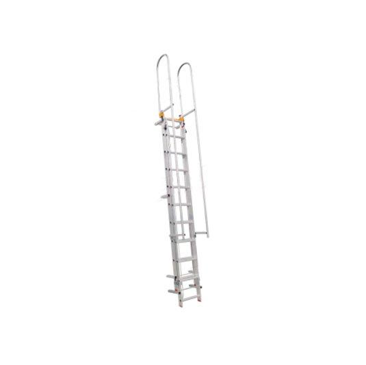 Escaleras de aluminio con baranda