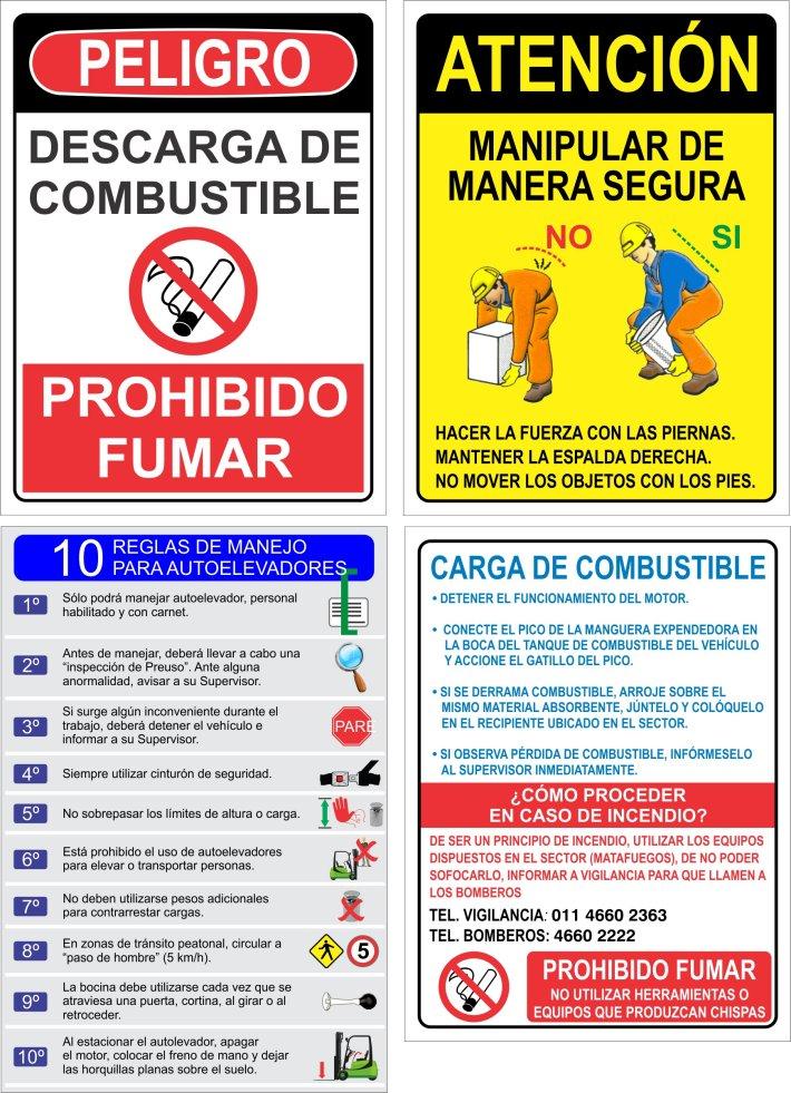 carteles industriales especiales a pedido procedimientos