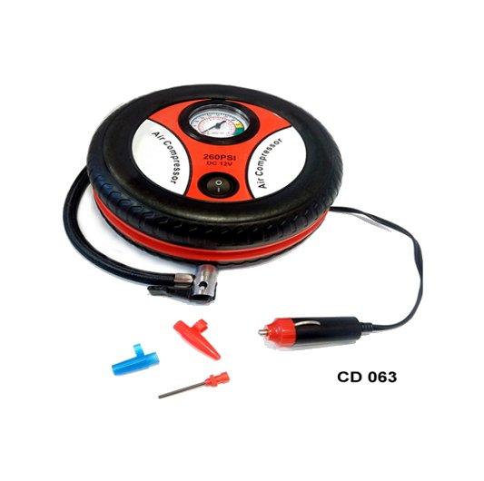 Compresor 12v 260 psi 3 picos forma de rueda