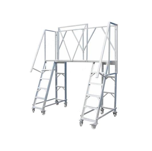 Escalera puente de aluminio