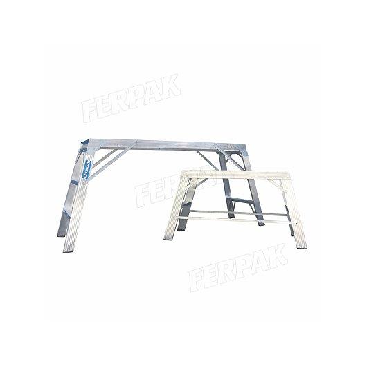 Taburete de aluminio plegable