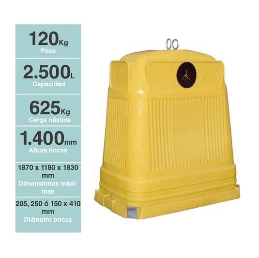 Contenedores para residuos Iglú Rectangular ISR 25