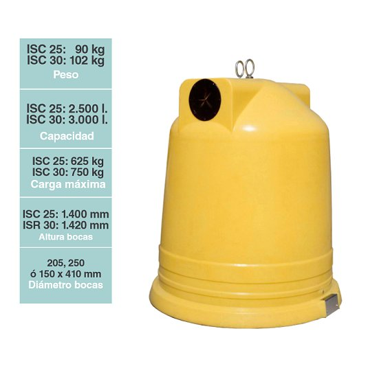 Contenedores para residuos Iglú Circular ISC 30/25
