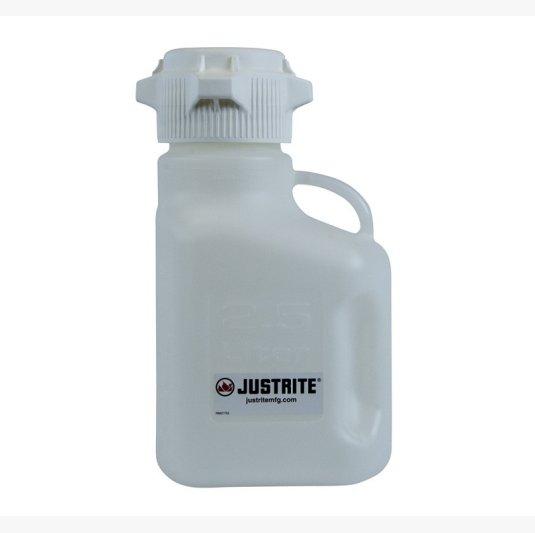 Bidón 12907 2,5 lt plast tipo Carboy para laboratorio plásticos Justrite - 2,5 lts.