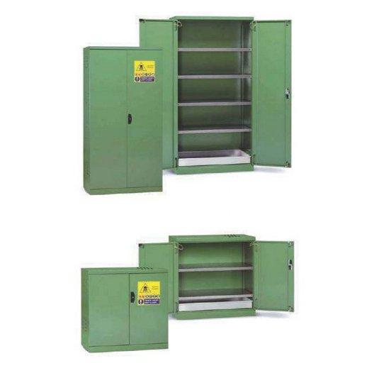 Armarios fitosanitarios y pesticidas de seguridad con puertas y accesorios