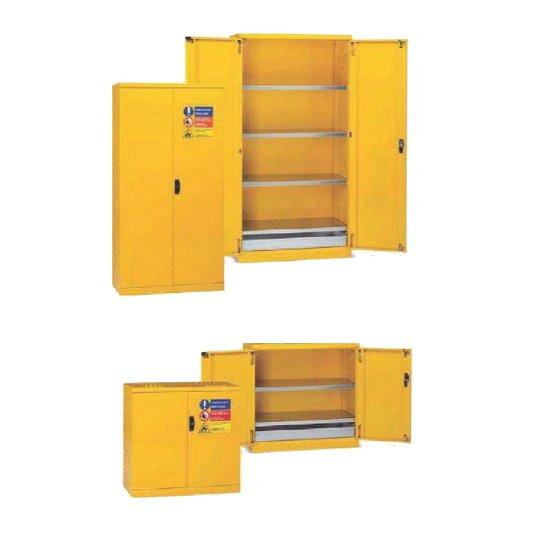 Armarios pinturas y solventes de seguridad con puertas y accesorios