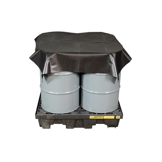 Lonas impermeables Justrite para protección de tambores